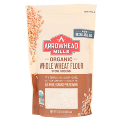 HGR1839661 - Arrowhead Mills - Organic Whole Wheat Flour - Stone Ground - Case of 6 - 22 oz..