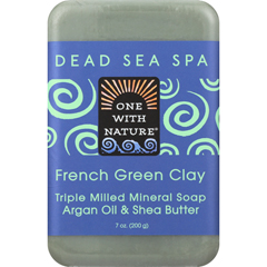 HGR1841642 - One With NatureFrench Clay Soap - French Green - Case of 6 - 7 oz.