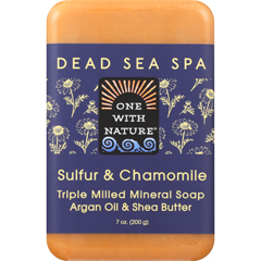 HGR1841683 - One With NatureBar Soap - Chamomile and Sulfur - Case of 6 - 7 oz.