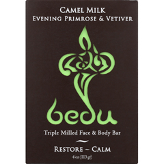 HGR1844471 - BeduFace and Body Bar - Evening Primrose and Vetiver - Case of 6 - 4 oz.