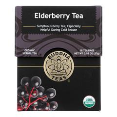 HGR1849389 - Buddha Teas - Organic Tea - Elderberry - Case of 6 - 18 Count