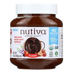 HGR1855600 - Nutiva - Organic Hazelnut Spreads - Chocolate - Case of 6 - 13 oz..