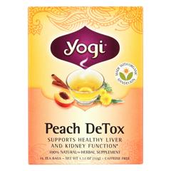 HGR1862655 - Yogi Teas - Detox - Peach - Case of 6 - 16 Bags