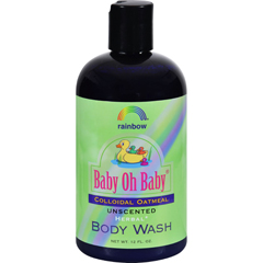 HGR0187724 - Rainbow ResearchBaby Oh Baby Organic Herbal Wash Colloidal Oatmeal Unscented - 12 fl oz
