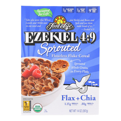 HGR1929843 - Food For Life - Ezekiel 4:9 Sprouted Flourless Flake Cereal - Case of 6 - 14 oz.