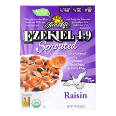 HGR1929876 - Food For Life - Raisin Flake Cereal - Case of 6 - 14 oz.