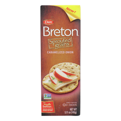HGR1967090 - Breton/Dare - Sprouted Grain Crackers - Caramelized Onion - Case of 6 - 5.11 oz..