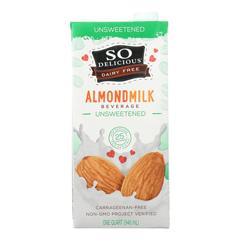 HGR1971530 - So Delicious - Dairy Free Almond Milk Beverage -Unsweetened - Case of 6 - 32 fl oz.
