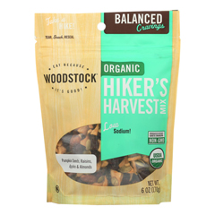 HGR1989557 - Woodstock - Organic Hikers Harvest Snack Mix - Case of 8 - 6 oz..