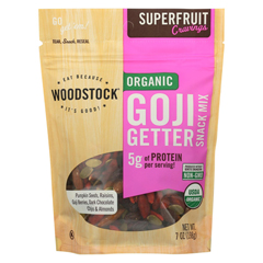HGR2025591 - Woodstock - Organic Snack Mix - Goji Getter - Case of 8 - 7 oz..
