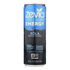 HGR2037208 - Zevia - Zero Calorie Energy Drink - Cola - Case of 12 - 12 fl oz.