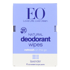 HGR2084713 - Eo Products - Deodorant Wipes - Lavender - Case of 12 - 6 count