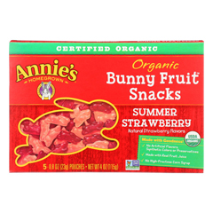 HGR2086981 - Annie's Homegrown - Fruit Snack Summer Strawberry - Case of 10 - 4 oz.