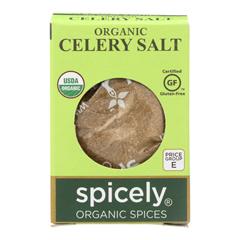 HGR2114437 - Spicely Organics - Organic Celery Salt - Case of 6 - 0.5 oz..