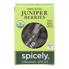 HGR2114833 - Spicely Organics - Organic Juniper Berries - Case of 6 - 0.2 oz..