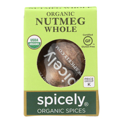 HGR2114965 - Spicely Organics - Organic Nutmeg - Whole - Case of 6 - 0.1 oz..