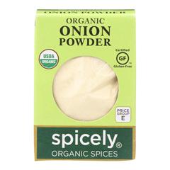HGR2114981 - Spicely Organics - Organic Onion Powder - Case of 6 - 0.4 oz..
