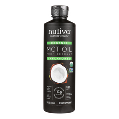 HGR2118586 - Nutiva - 100% Organic Mct Oil - From Coconut - Unflavored - 16 fl oz.