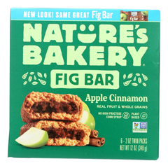 HGR2135945 - Nature's Bakery - Stone Ground Whole Wheat Fig Bar - Apple Cinnamon - Case of 6 - 2 oz..