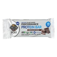 HGR2157642 - Garden of Life - Sport Protein Bar - Chocolate Fudge - Case of 12 - 2.7 oz.