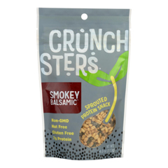 HGR2166122 - Crunchsters - Sprouted Protein Snack - Smokey Balsamic - Case of 6 - 4 oz..