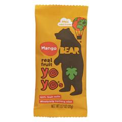 HGR2179307 - Bear - Real Fruit Roll Yoyo - Mango - Case of 6 - 3.5 oz.