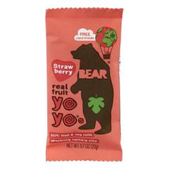 HGR2179331 - Bear - Real Fruit Yoyos - Strawberry - Case of 6 - 3.5 oz..