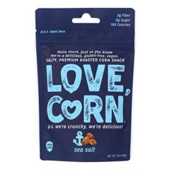 HGR2192235 - Love Corn - Roasted Corn Sea Salt - Case of 10 - 1.6 oz.