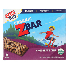 HGR2204063 - Clif Kid Zbar - Organic ZBar - Chocolate Chip - Case of 9 - 7.62 oz..