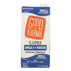 HGR2204600 - Good Karma - Flax Milk - Protein - Vanilla - Case of 6 - 32 fl oz.