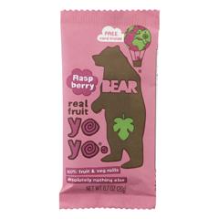 HGR2207603 - Bear - Real Fruit Yoyo Snack - Raspberry - Case of 6 - 3.5 oz..