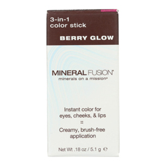 HGR2221166 - Mineral Fusion - 3-in-1 Color Stick - Berry Glow - 0.18 oz..