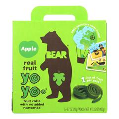 HGR2227304 - Bear - Real Fruit Yoyo Snack - Apple - Case of 6 - 3.5 oz..
