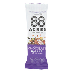 HGR2250272 - 88 Acres - Seed Bars - Double Chocolate Mocha - Case of 9 - 1.6 oz..