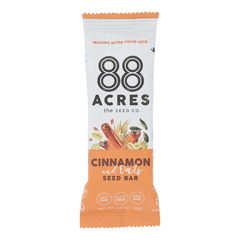 HGR2250280 - 88 Acres - Seed Bars - Oats And Cinnamon - Case of 9 - 1.6 oz..