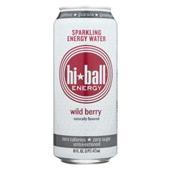 HGR2273589 - Hi Ball - Energy Sparkling Energy Water - Wild Berry - Case of 1 - 8/16 fl oz..