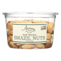 HGR2289080 - Aurora Natural Products - Raw Whole Brazil Nuts - Case of 12 - 9 oz..