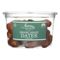 HGR2289247 - Aurora Natural Products - Organic Deglet Dates - Case of 12 - 9 oz..