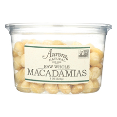 HGR2289577 - Aurora Natural Products - Raw Whole Macadamias - Case of 12 - 8 oz..