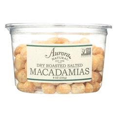 HGR2289585 - Aurora Natural Products - Dry Roasted Salted Macadamias - Case of 12 - 8 oz..