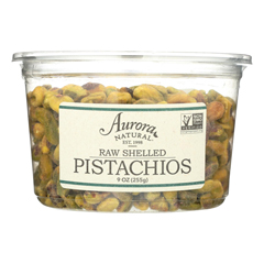 HGR2289684 - Aurora Natural Products - Raw Shelled Pistachios - Case of 12 - 9 oz..