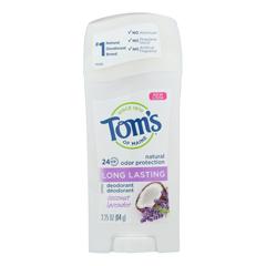 HGR2292803 - Tom's of Maine - Deodorant - Coconut Lavender - Case of 6 - 2.25 oz..