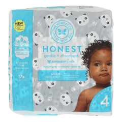 HGR2303006 - The Honest Company - Diapers Size 4 - Pandas - 23 Count