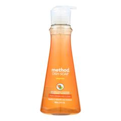 HGR2315323 - Method Products - Dish Soap Pump - Tangerine - Case of 6 - 18 fl oz..