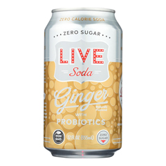HGR2324101 - Live Soda - Soda Ginger Probiotic - Case of 4-6/12 fl oz..
