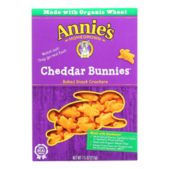 HGR2336634 - Annie's Homegrown - Snack Crackr Ched Bun - Case of 12-7.5 oz..