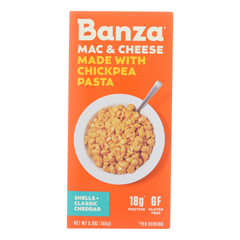 HGR2347037 - Banza - Chickpea Pasta Mac and Cheese - Shells and Classic Cheddar - Case of 6 - 5.5 oz..