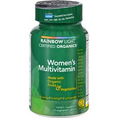 HGR0235408 - Rainbow LightCertified Organics Womens Multivitamin - 120 Vegetarian Capsules