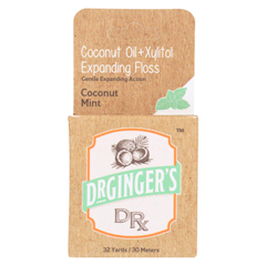 HGR2354918 - Dr. Ginger's - Xylitol and Coconut Oil Expanding Floss - 32 Yards