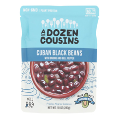 HGR2370609 - A Dozen Cousins - Ready to Eat Beans - Cuban Black - Case of 6 - 10 oz..